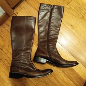 Italy Brown knee high boots